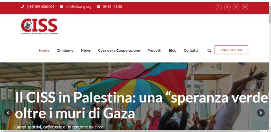Il sito della ONG CISS