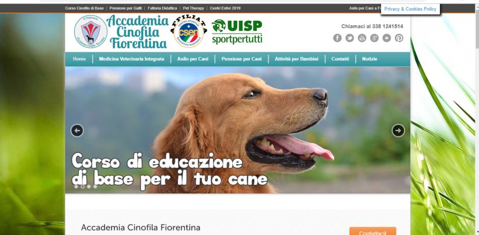 Il sito della Accademia Cinofila Fiorentina